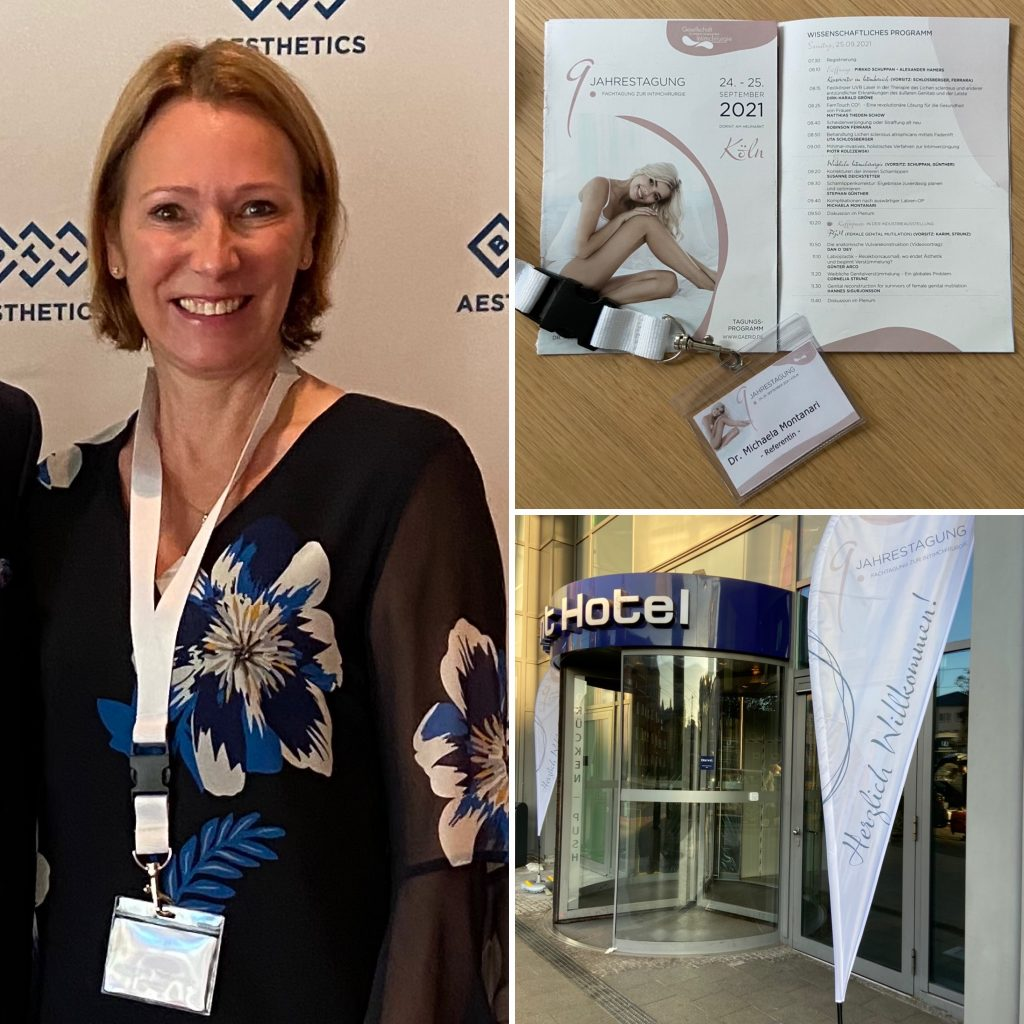 Frau Dr. Michaela Montanari referiert am 25.09.2021 auf der Gaerid, die in diesem Jahr in Köln stattfindet. Thema: Komplikationen nach (auswärtiger) Labien-OP
